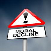 Moral decline concept. — Stock Photo