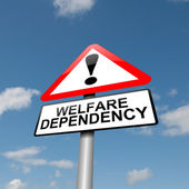 Welfare dependence. — Foto Stock