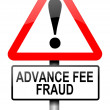 Stock Photo: Advance fee fraud concept.