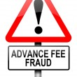 Advance fee fraud concept. — Stock Photo #11106383