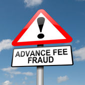 Advance fee fraud concept. — Stock Photo
