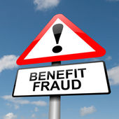 Benefit fraud concept. — Foto Stock
