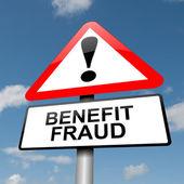 Conceito de fraude de benefícios. — Foto Stock