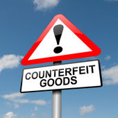 Counterfeit goods concept. — Stock Photo
