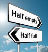 Half empty or half full. — Stock Photo