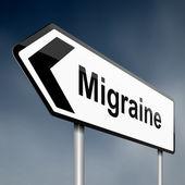 Migraine concept. — Stock Photo