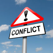 Conflict concept. — Stock Photo