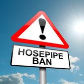Hose pipe ban warning. — Stock Photo
