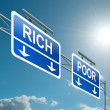 Rich or poor concept. - Stock Photo
