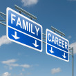 Family or career. — Stockfoto