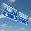 Family or career. - Stock Photo