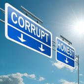Corrupt or honest. — Stock Photo