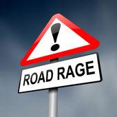 Road rage concept. — Stock Photo