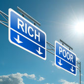 Bohaté nebo chudé koncepce. — Stock fotografie