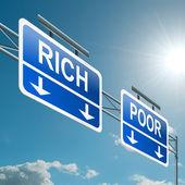 Koncepcja bogata czy biedna. — Zdjęcie stockowe