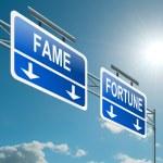 Постер, плакат: Fame and fortune concept