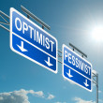 Optimist or pessimist concept. — Stock Photo