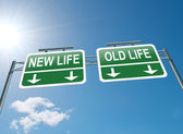 New or old life. — Stock Photo