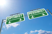 Optimist or pessimist concept. — Stock Photo