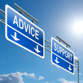 Support and advice. — Stock Photo