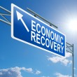 Stock Photo: Economic recovery sign.