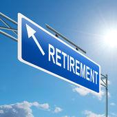 Conceito de aposentadoria. — Foto Stock