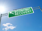 Economic recovery sign. — Stock Photo