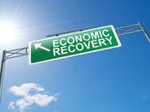 Economisch herstel teken. — Stockfoto