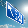 Stock Photo: Quit job.