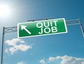Rzuciłem pracę. — Zdjęcie stockowe