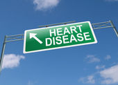 Heart disease concept. — Stock Photo