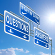 Questions and answers concept. - Stock Photo