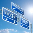 Guilty or innocent. - Stock Photo