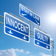 Guilty or innocent. — Stock Photo #11444123