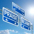 Praise or blame concept. - Photo