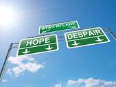 Hope or despair concept. — Stock Photo