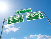 Praise or blame concept. — Stock Photo