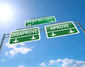 Approve or disapprove concept. — Stock Photo