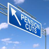 Pension cuts concept. — Stock Photo
