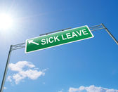 Sick leave concept. — Stock Photo