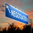Negotiation concept. — Stock Photo