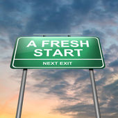 A fresh start. — Stock Photo