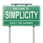 Simplicity concept. — Stock Photo