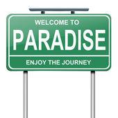 Paradise concept. — Stock Photo