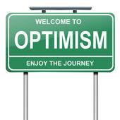 Optimistic concept. — Stock Photo