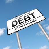 Concept de dette. — Photo