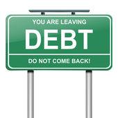 Debt concept. — Stock Photo