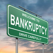 Bankruptcy concept. — Stock Photo
