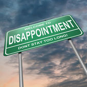 Disappointment concept. — Stock Photo