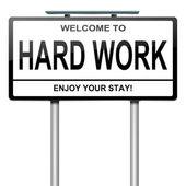 Hard work concept. — Stock Photo
